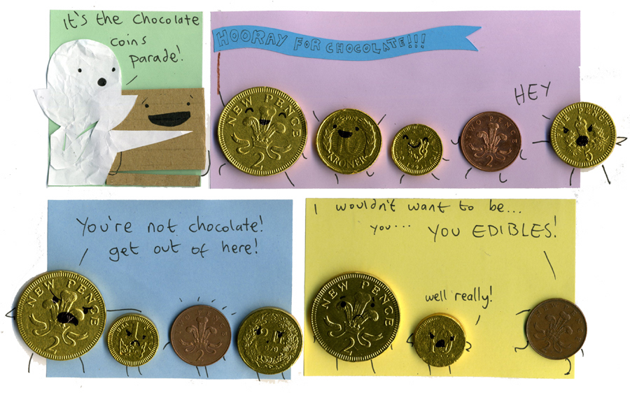 Chocolate coins parade