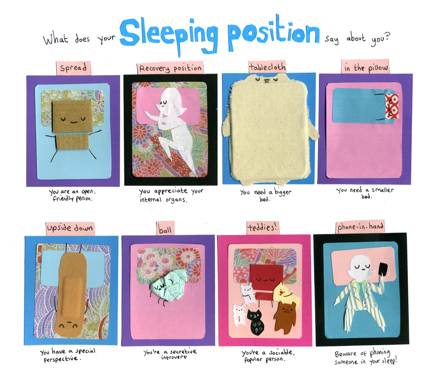 What Does Your Sleeping Position Say About You.My Cardboard Life What Does Your Sleeping Position Say